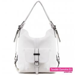 Biała torba i plecak w jednym