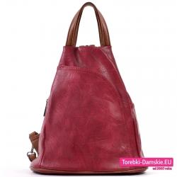 Plecak damski w kolorze bordowym