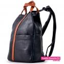Czarny plecak damski średniej wielkości