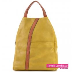 Tani żółty modny plecak damski