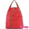 Czerwony plecak damski