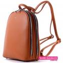 Średniej wielkości brązowy damski plecak z rączką do podnoszenia