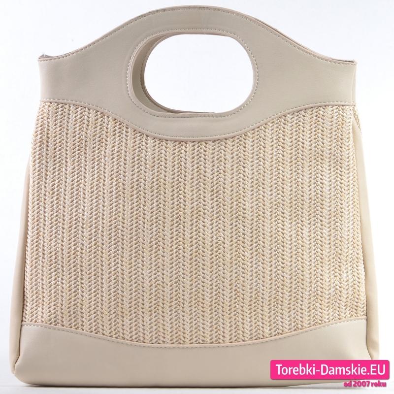 Beżowa torebka damska średniej wielkości - 59,00 zł