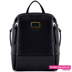 Duży miejski czarny plecak damski nowy fason
