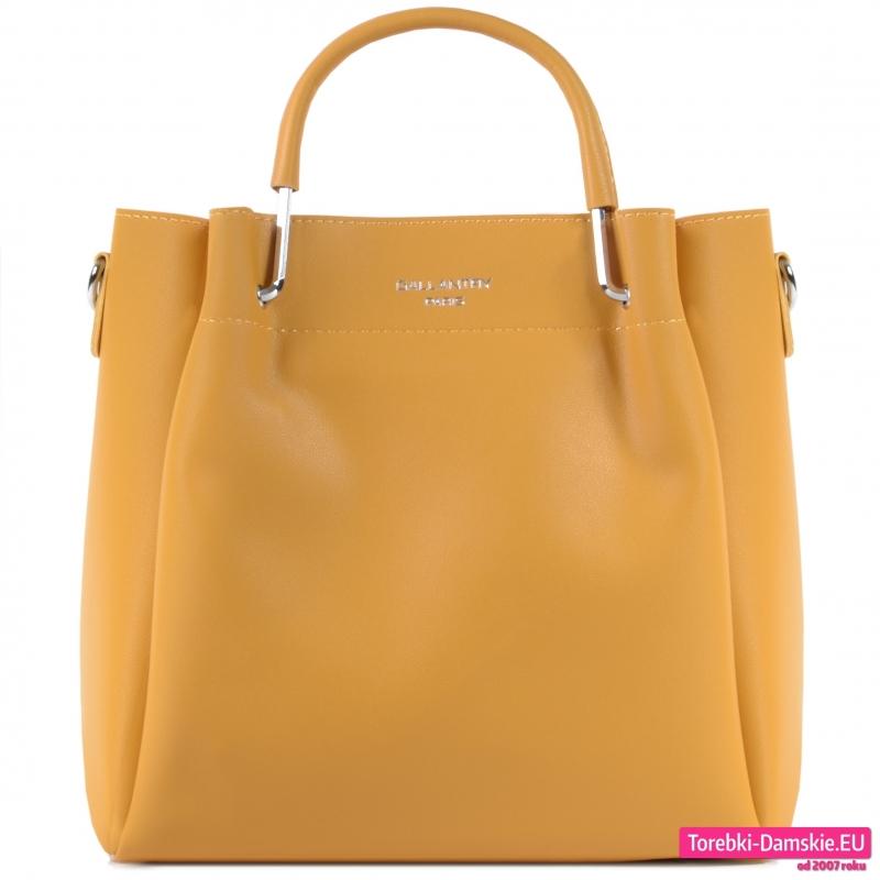 Żółta torebka damska średniej wielkości w pięknym odcieniu