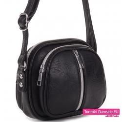 Mała lekka czarna torebka crossbody modny fason