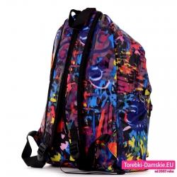 Pojemny lekki damski kolorowy plecak na szerokich wygodnych paskach