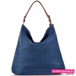 Pojemna torba worek / shopper do noszenia na ramieniu w pięknym odcieniu