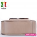 Włoska beżowa torba skórzana duży model