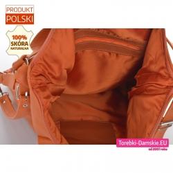 Pomarańczowa torba zamykana suwakiem z podszewką - 2 kieszenie