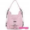 Różowa torba damska i plecak w jednym