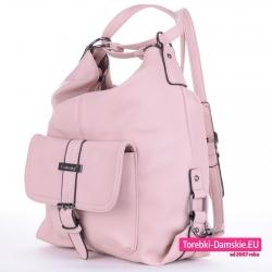 Plecako - torba w kolorze różowym jasnym