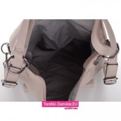 Mieszcząca A4 beżowa torba i plecak w jednym