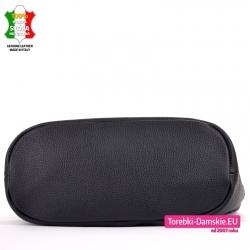 Czarna torba ze skóry naturalnej listonoszka duża