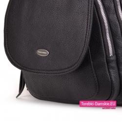 Markowy czarny plecak damski