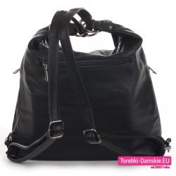 Plecako - torba damska czarna tania i lekka