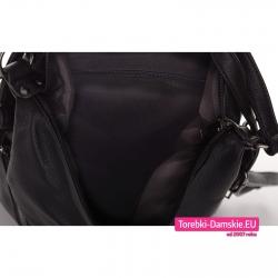 Torba worko - plecak z czarną podszewką