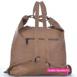Plecako - torba w kolorze beżowym
