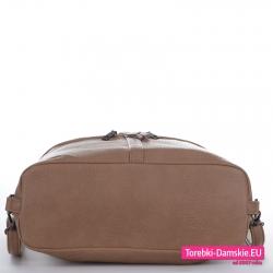Beżowa miejska torba worek i plecak damski