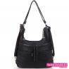 Pojemna czarna torba damska i plecak w jednym