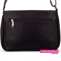 Lekka torebka damska do noszenia w przewieszeniu z kieszenią z tyłu