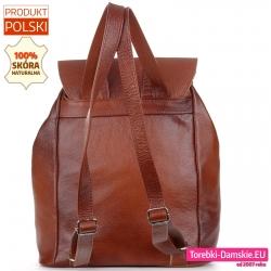 Mieszczący A4 pojemny plecak damski produkcji polskiej