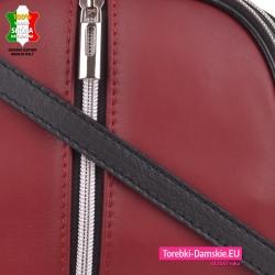 Bordowa torebka z luksusowej miękkiej skóry