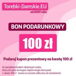 Karta podarunkowa 100 zł na zakup w sklepie Torebki-Damskie.eu