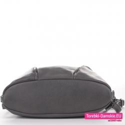 Torbo - plecak kolor szary grafit z płaskim zaokrąglanym spodem
