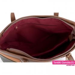 Zamykana suwakiem duża torba z przegrodą wewnętrzną