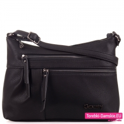Czarna stylowa torebka damska typu crossbody