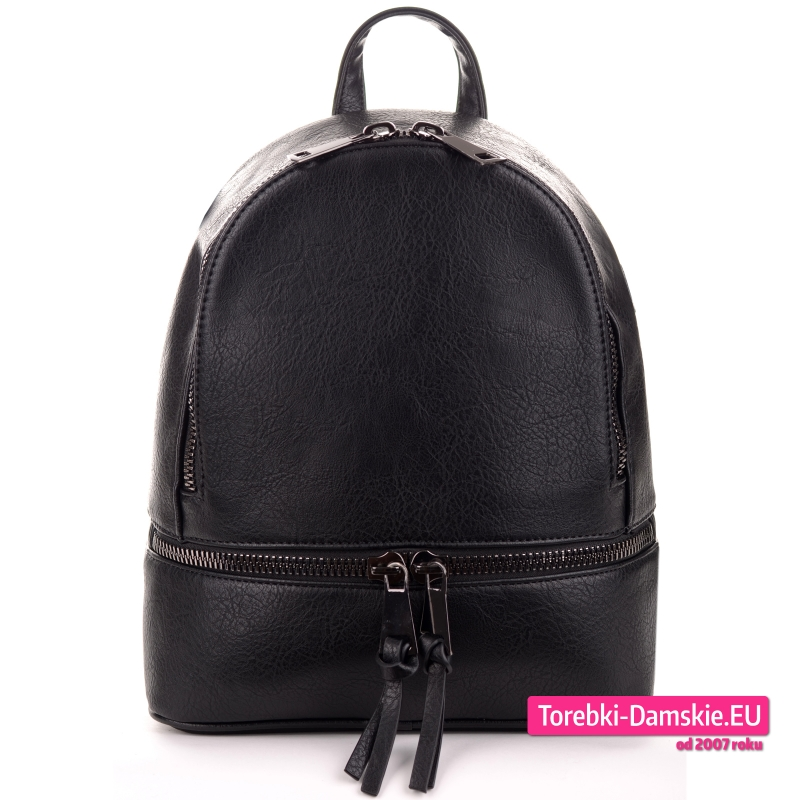 Czarny modny plecak damski z nowej kolekcji