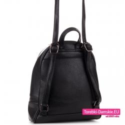 Plecak damski czarny z możliwością noszenia na ramieniu