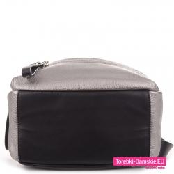 Srebrny plecak z czarnymi elementami