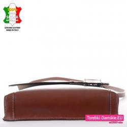 Brązowa torebka ze skóry włoskiej