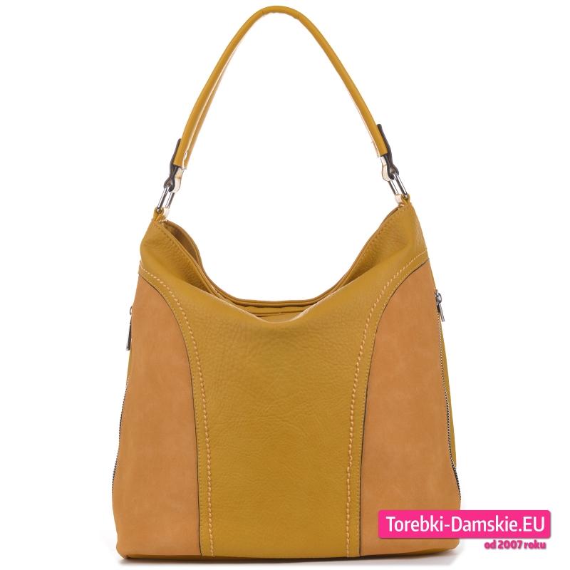 Żółta torebka na ramię w modnym odcieniu koloru