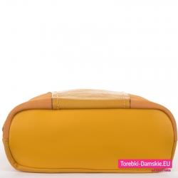 Torebka damska żółta z płaskim spodem