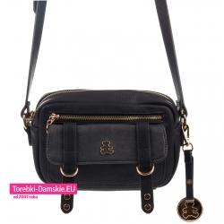 Mała czarna torebka Lulu Castagnette z misiem