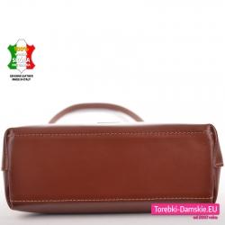 Włoska torebka w kolorze brązowym