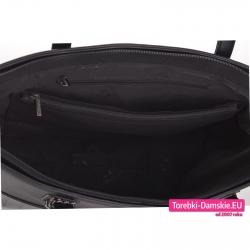 Zamykana suwakiem duża torba na A4 lub laptop z kieszeniami wewnątrz