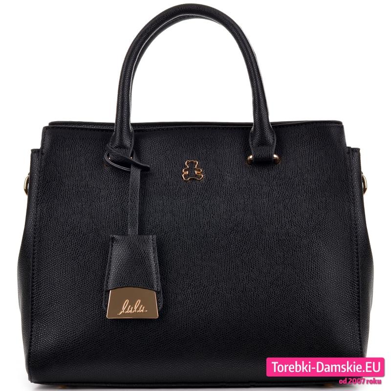 Kuferek Lulu Castagnette czarny trójkomorowy