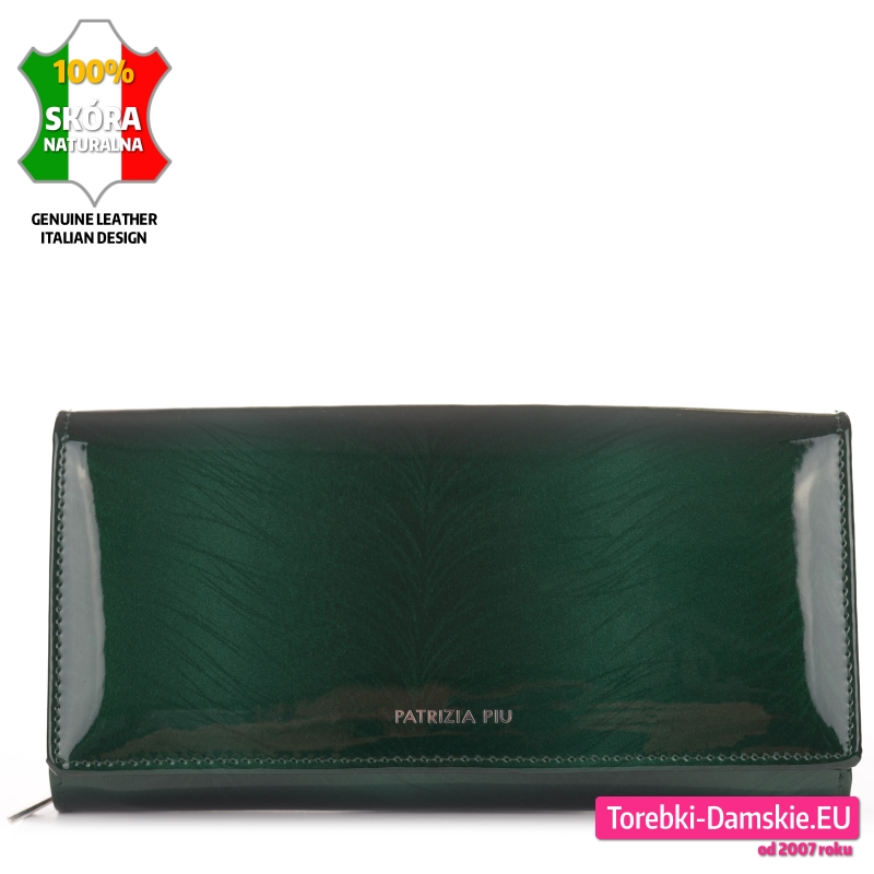 Zielony portfel damski