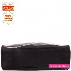 Torba shopperbag czarna z prostokątnym sztywnym dnem