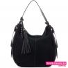 Czarna pojemna stylowa torba damska na ramię - 119,00zł