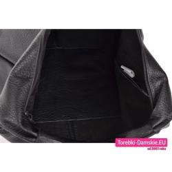 Torba mieszcząca A4, modny czarny worek z zamknięciem suwakiem