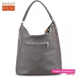 Szary worek - duża torba na ramię produkt polski