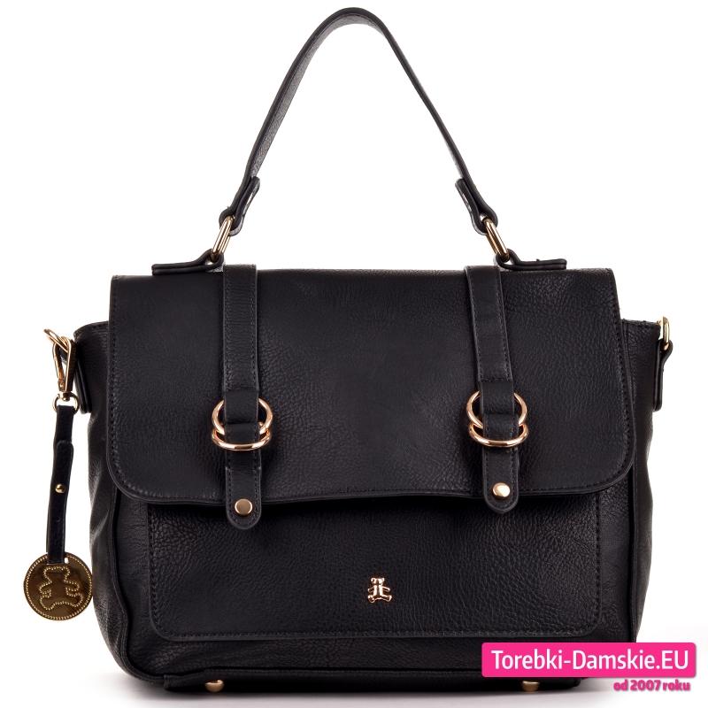 Czarna oryginalna torebka Lulu Castagnette średniej wielkości