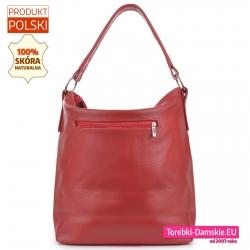 Duża torba z kieszenią zamykaną z tyłu kolor czerwony