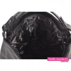 Tania torba miejska A4 czarna zamykana suwakiem