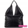 Czarna torba na ramię - modny worek - 79,00zł